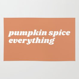 pumpkin spice everything Rug