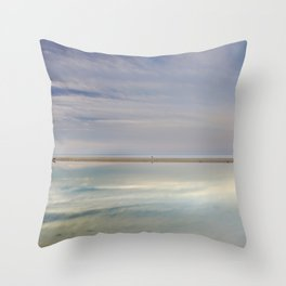 """Peace at the seasunset"". Magic reflections Throw Pillow"