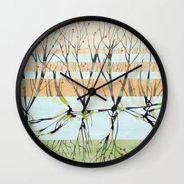 withered tree Wall Clock