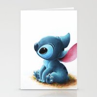 stitch Stationery Cards featuring Stitch by Patricia Teo