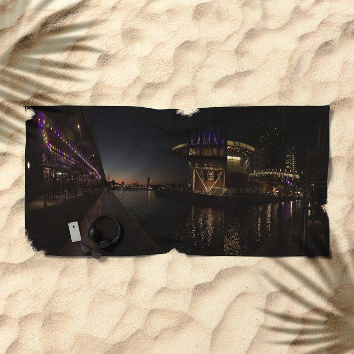 Amsterdam - Delirium Café & Muziekgebouw aan 't IJ  Beach Towel