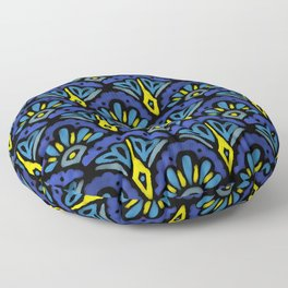 Watercolor Abstract Pattern Floor Pillow