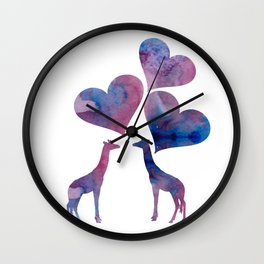 Giraffe Art Wall Clock