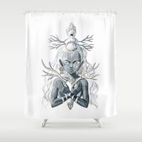 luna Shower Curtains featuring Luna by Freeminds