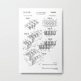 Lego: Original Patent Metal Print