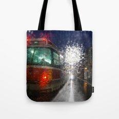 Rain Rider Tote Bag
