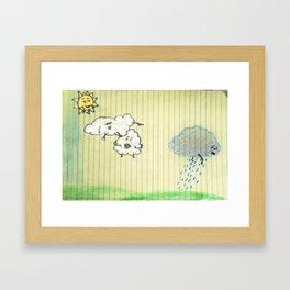 Cloudbullying Framed Art Print