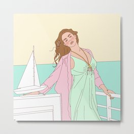 High By The Beach Metal Print