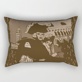Venice carnival vintage Rectangular Pillow