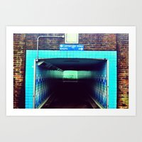 subway Art Prints featuring Subway by Efua Boakye
