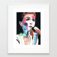 hayley williams Framed Art Prints featuring Hayley Williams by alice kasper
