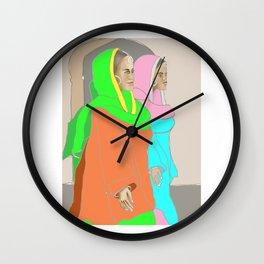 Punjabi Mutiyars 3 Wall Clock