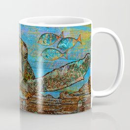 Sea Turtle Over Atlantis Coffee Mug