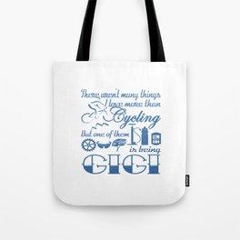 Cycling Gigi Tote Bag