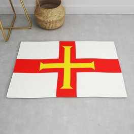 Flag of The Channel Island Of Guerseney Rug