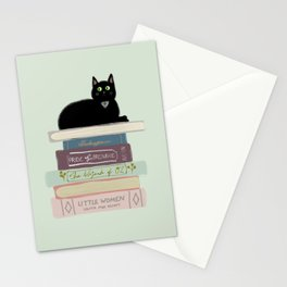 Books & Cats Stationery Cards