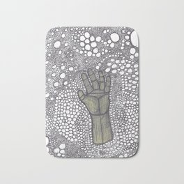 Golden hand drowning in the Astral plane Bath Mat