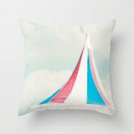Carnival Tent Throw Pillow