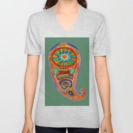 Colourful Paisley Unisex V-Neck