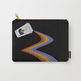 Coffee Cup Rainbow Pour // Abstract Barista Wall Hanging Artwork Graphic Design Carry-All Pouch