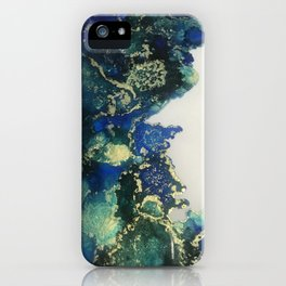 Green blue bloom iPhone Case