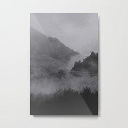 HIDDEN HILLS (graphite) / Bregenz Forest, Austria Metal Print