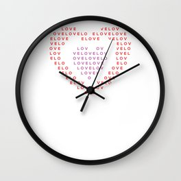 Heart shape of LOVE Wall Clock