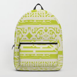 Chartreuse vintage pattern Backpack