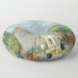 Restaurant Rispal at Asnieres by Vincent van Gogh Floor Pillow