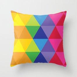 Rainbow Cosmic Universe Throw Pillow