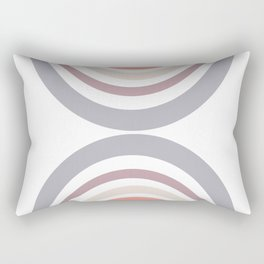 Modern Double Rainbow Hourglass in Muted Earth Tones Rectangular Pillow