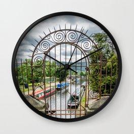 Rusty Gate Wall Clock