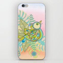 Free tropical bird iPhone Skin
