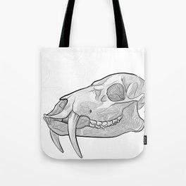 Water Deer Skull Tote Bag
