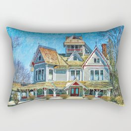Grey Gables Mansion Rectangular Pillow