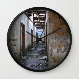 Abandoned Cotton Factory Wall Clock