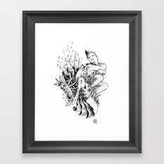 Tired of Thinking Framed Art Print