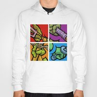 lichtenstein Hoodies featuring Lichtenstein Pop Martial Art Chelonians Set by Butcher Billy