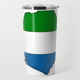 Sierra Leone Map with Sierra Leonean Flag Travel Mug