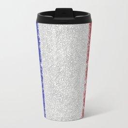 French Flag Splatter Painting Travel Mug
