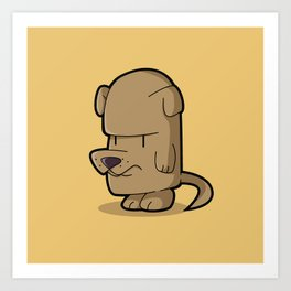 The Little Stubborn Dog Art Print