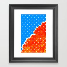 hysterical blue Framed Art Print