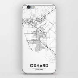 Minimal City Maps - Map Of Oxnard, California, United States iPhone Skin