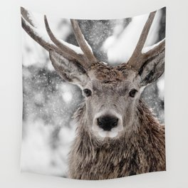 WINTER STAG Wall Tapestry