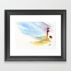 Lighthouse Impressions Framed Art Print