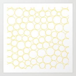 Circled in Gold Art Print