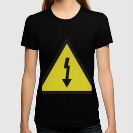 electric current danger signal T-shirt
