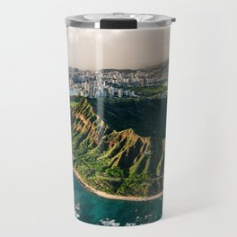 Diamond Head Aerial Panoramic Travel Mug