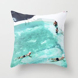 Resolutions (watercolour) Throw Pillow