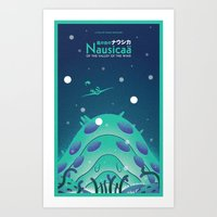 nausicaa Art Prints featuring Nausicaa Valley of the Wind by Oliver Sin